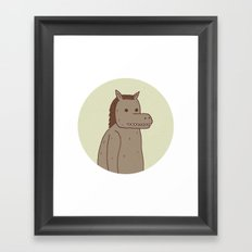 Horse Thing Framed Art Print