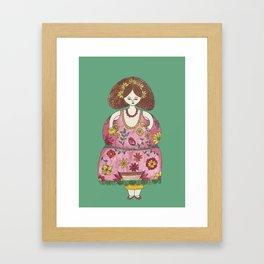 Marie-Fleur la Fleuriste Framed Art Print