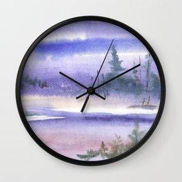 Wintery Taiga Wall Clock