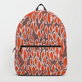 Retro leaves orange  Backpack