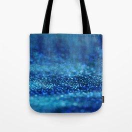 Aqua Glitter effect- Sparkling print in classic blue Tote Bag