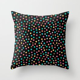 Light Bright Dot Throw Pillow