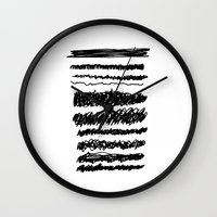 dramatical murder Wall Clocks featuring MURDER by hakstbl