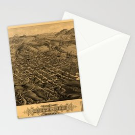 Map Of Butte 1884 Stationery Cards