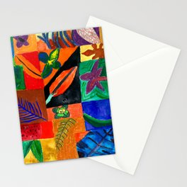 Colourful Plant Collage Stationery Cards