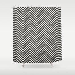 chevron painted Shower Curtain