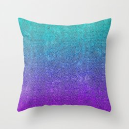 Tropical Twilight Glitter Gradient Throw Pillow