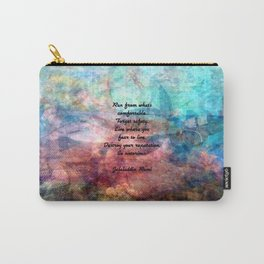 Challenging Fear Rumi Uplifting Quote With Beautiful Underwater Painting Carry-All Pouch