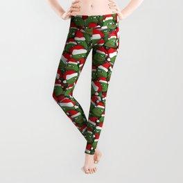 Sad christmas frogs pattern Leggings