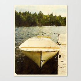 Dock and Dory, Lily Bay State Park, Maine Canvas Print
