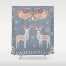 Nordic Winter Shower Curtain