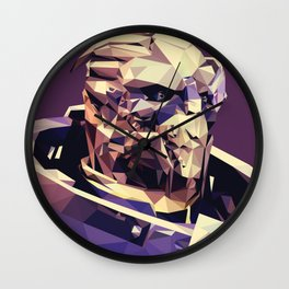 Facets of Garrus Wall Clock
