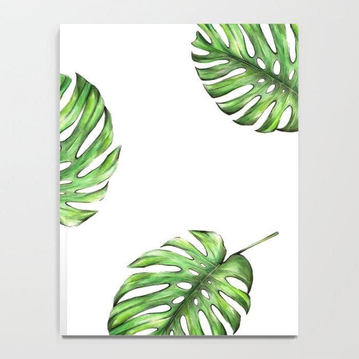 Monstera green leaves Notebook