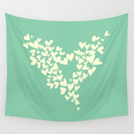 Heart In Hearts. Clouds in the hearts Wall Tapestry