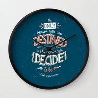 wreck it ralph Wall Clocks featuring Ralph Says by PieTowel