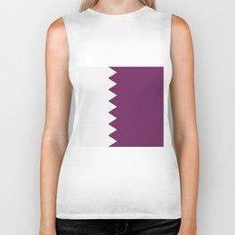 flag of qatar Biker Tank