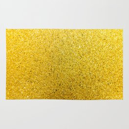 Sunshine Glittery Golden Sparkle Rug