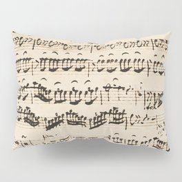 Johann Sebastian Bach (1685 – 1750) original music sheet Pillow Sham