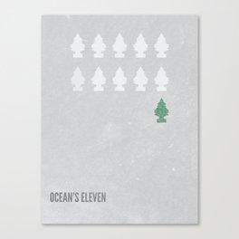 Ocean's Eleven Minimalist Poster.  Canvas Print
