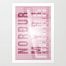 Nordurmyri Pink Art Print