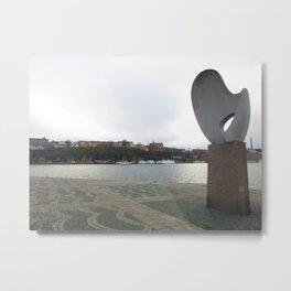 Statue in Stockholm Metal Print
