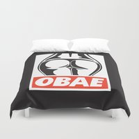 booty Duvet Covers featuring OBAE the booty. by OBAE the booty.