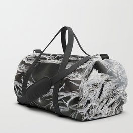 Ice Crystals In Black And White #decor #society6 #homedecor Duffle Bag
