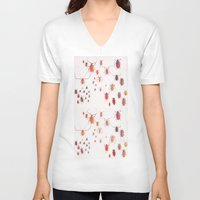 insects V-neck T-shirts featuring Insects by Guo Shiyuan