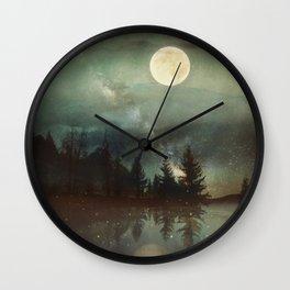 Midnight Fireflies Wall Clock