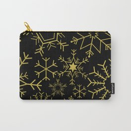 Gold and black snowflakes Carry-All Pouch
