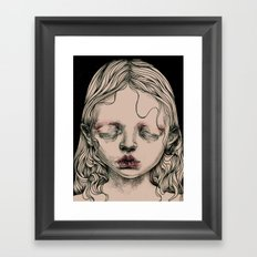 Rabbit Eyes Framed Art Print