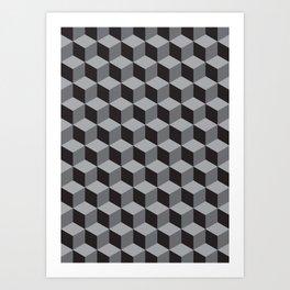 geometric b.w_05 Art Print