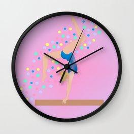 Gymnastics - Ultimate Balancing Act  (on BalanceBeam) 1 Wall Clock