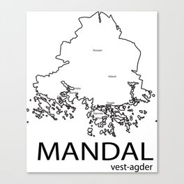 map of mandal Canvas Print