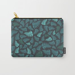 Fern Fronds in Sea Greens Carry-All Pouch