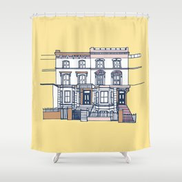 'Notting Hill' house print Shower Curtain
