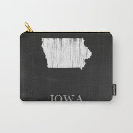 Iowa State Map Chalk Drawing Carry-All Pouch