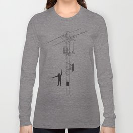 Tokyo Electric Pole Long Sleeve T-shirt