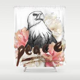 Peace Wreath Shower Curtain