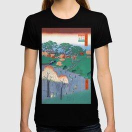 Temple Gardens Nippori Ukiyo-e Japanese Art T-shirt