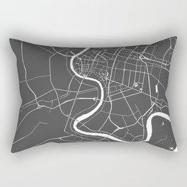 Bangkok Thailand Minimal Street Map - Gray and White II Rectangular Pillow