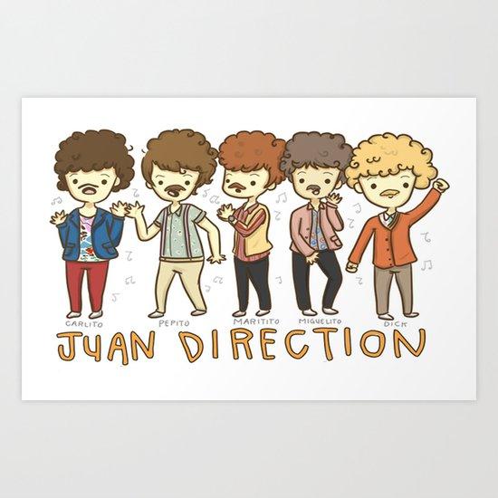 Juan Direction One Direction Cartoon Art Print