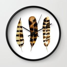 Rustic Feather Wall Clock