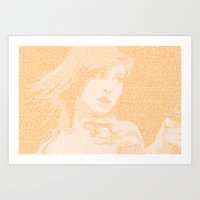 paramore Art Prints featuring Hayley Williams Lyric Portrait by Emily Becker