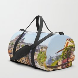 ROME the Streets:  Rooftop View of Rome, Italy Duffle Bag