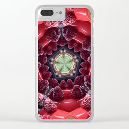 Raspberry Tunnel Clear iPhone Case