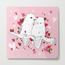 Alphabetical Animals – L for Lovebirds Metal Print