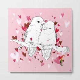 Alphabetical Animals – L for Lovebirds Metal Print