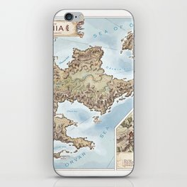 Belthennia - a map of its Independent Territories iPhone Skin