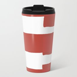 Big Stripes In Red Travel Mug